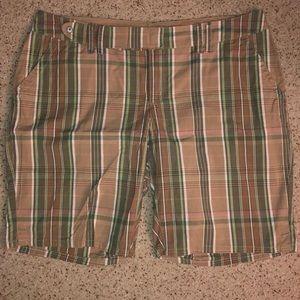Old Navy plaid Bermuda shorts
